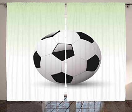 amazon com ambesonne sports curtains vector image of football