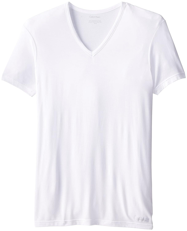 Calvin Klein Men's Micro Modal Short Sleeve V Neck Pajama Top U5563