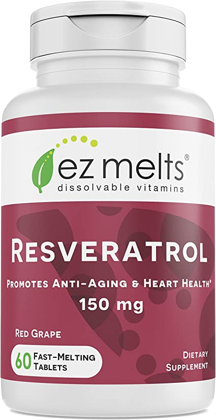 Amazon Com Ez Melts Resveratrol As Trans Resveratrol 150 Mg