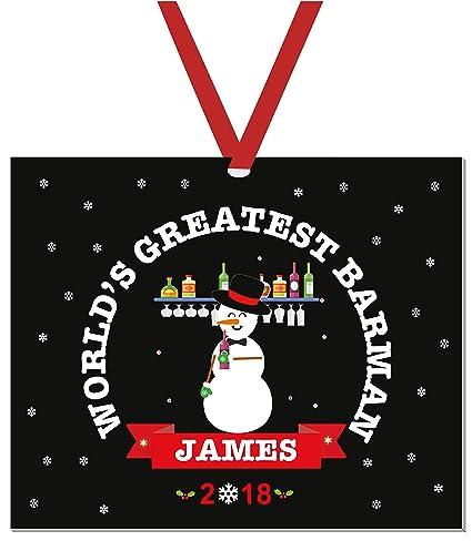 aa8f4cbf4fe Amazon.com  Barman Christmas Ornaments 2018-Barkeeper Christmas ...