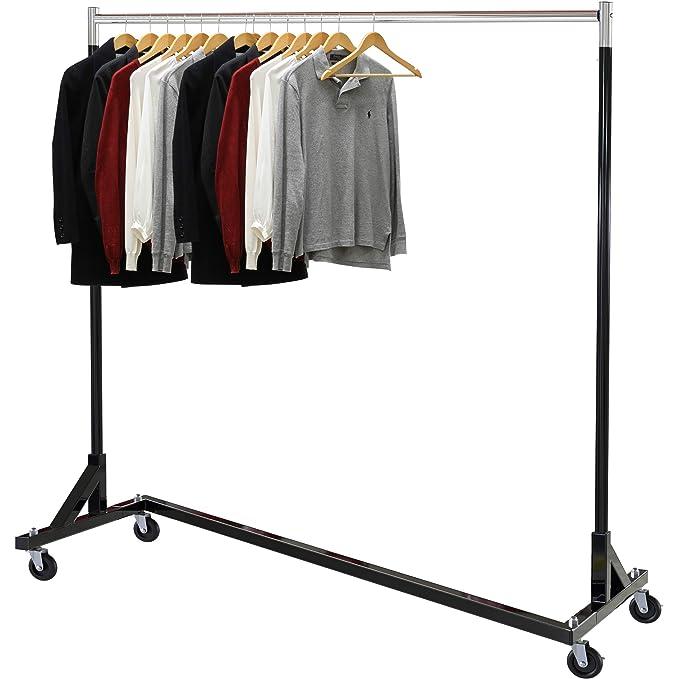 Simple Houseware Commercial Z Base Garment Rack, Black