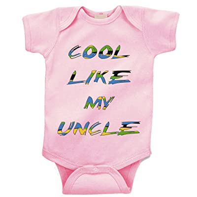 """ Cool Like my Uncle "" Custom Boutique Baby bodysuit onesie."