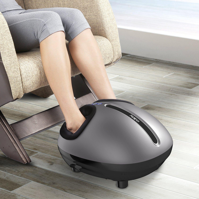 Risultati immagini per Naipo Massaggiatore di Piedi Shiatsu Massaggio Plantare con Airbag