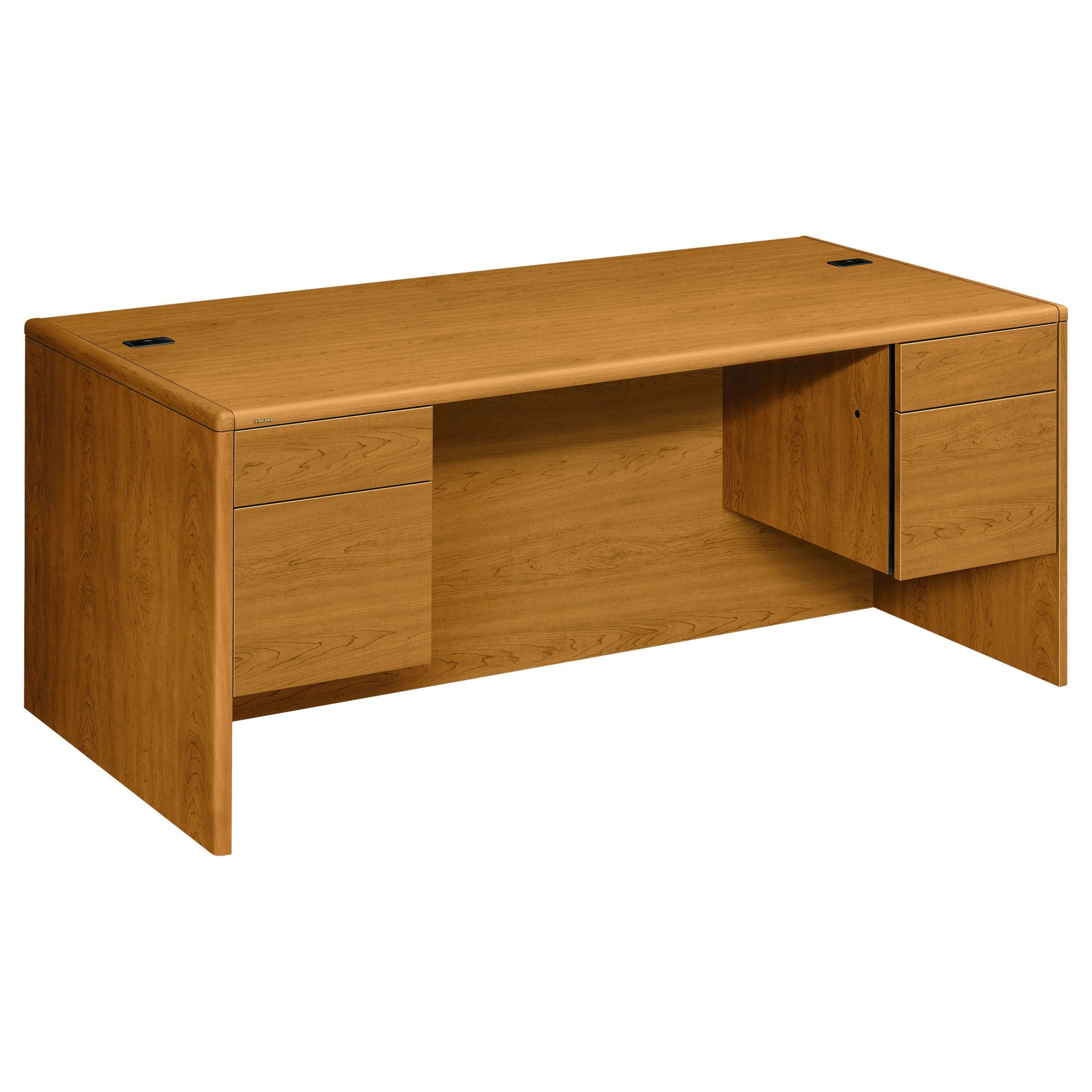 HON 10791CC 10700 Series Desk 3/4 Height Double Pedestals 72w x 36d x 29 1/2h Harvest, Harvest