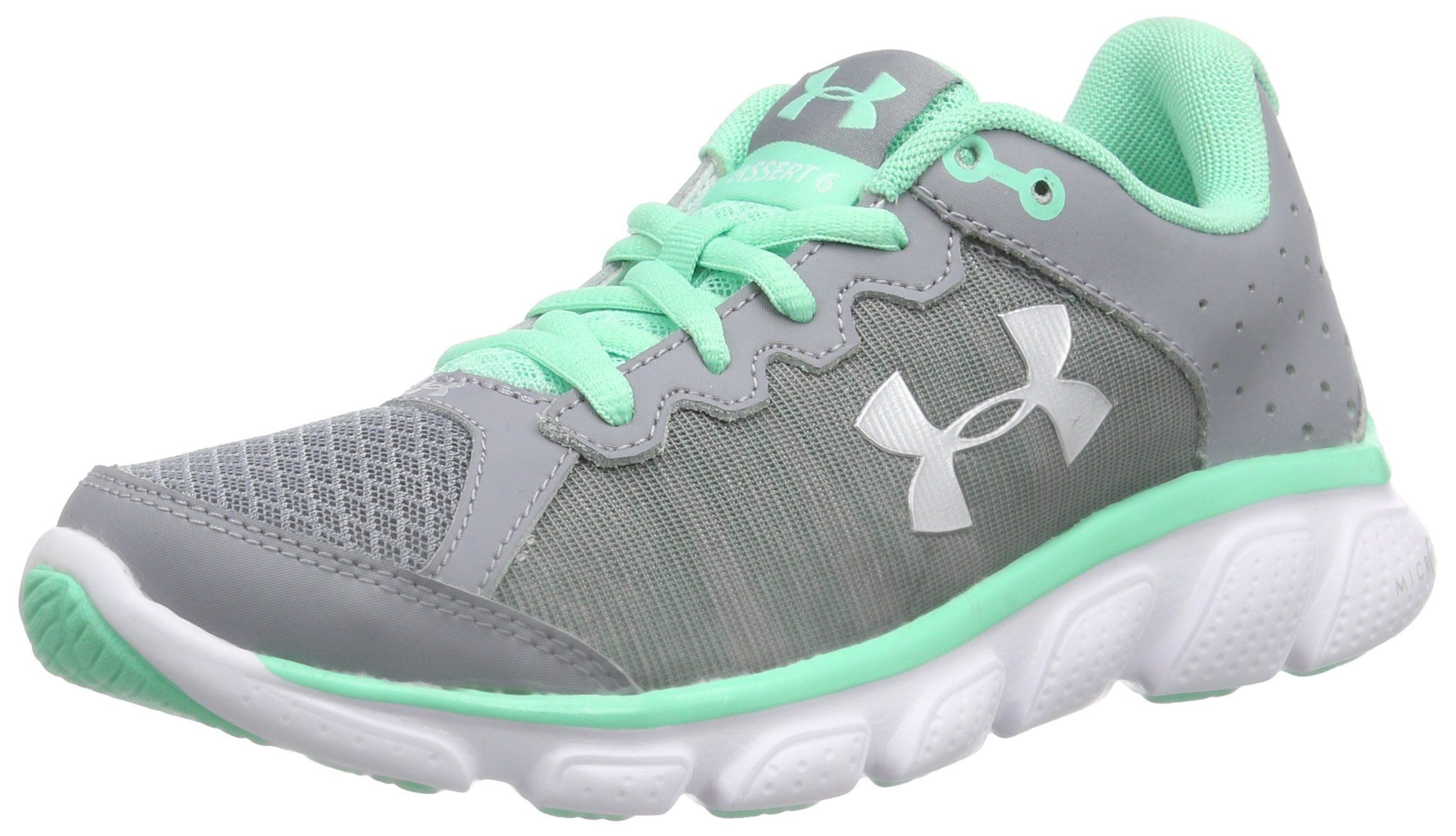 Under Armour New Women's Micro G Assert 6 Running Shoe Steel/Green 5.5 by Under Armour
