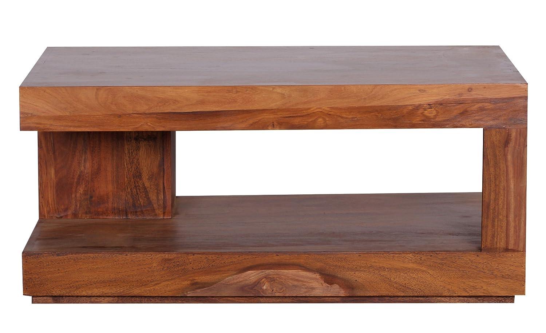 Wohnling Couchtisch Massiv Holz Sheesham 90 Cm Breit Wohnzimmer