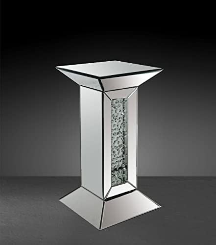 ACME Furniture 97306 St Nysa Mirrored Pedestal Stand