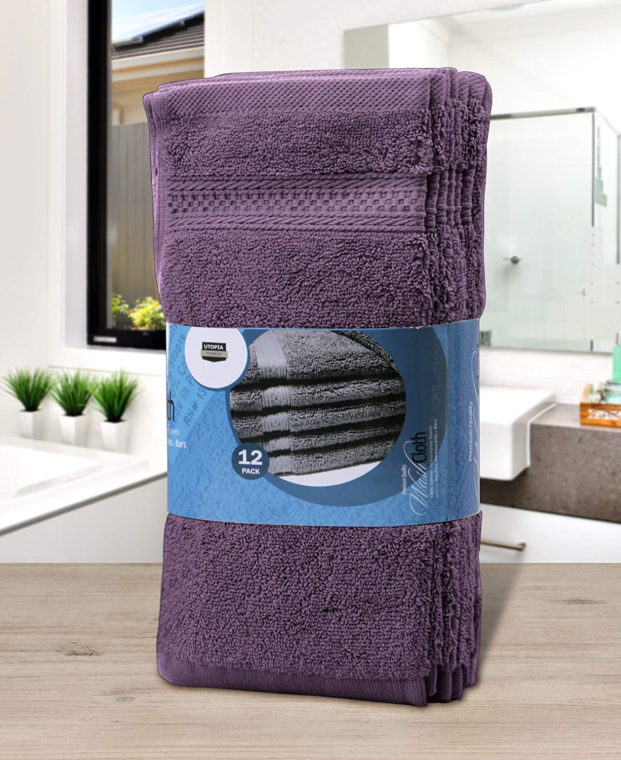 12 x 12 Inches Extra Soft Wash Cloths UT0467 White 12 Pack Utopia Towels Premium 700 GSM Cotton Washcloths