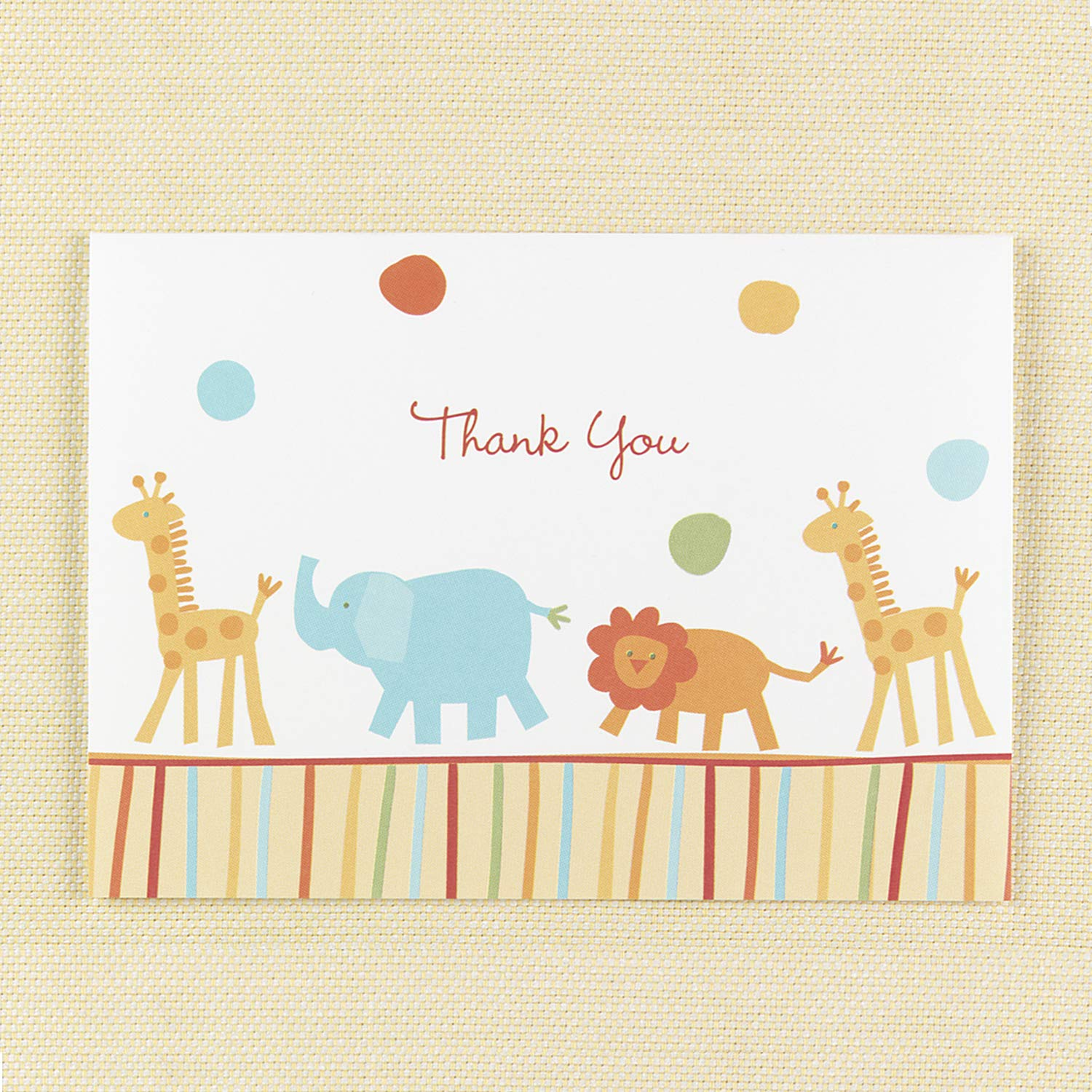 13pk Jungle Animals Baby Shower Thank You-Shop All Baby by Carlson Craft (Image #1)