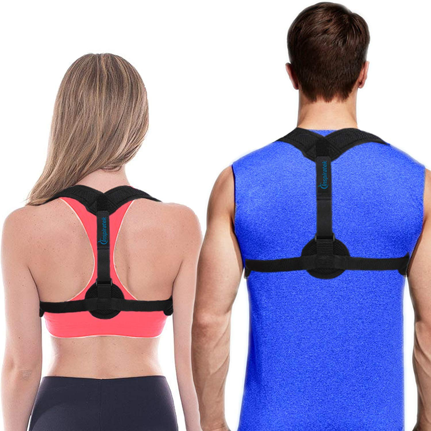 OKUBOX Back correction strap Posture Corrector for Kid Women Men Back Cushion for Lower Back Pain Sciatica Pain Relief for AdultsRelieves Your Back Pain and Retrains Shoulders Adjustable Strap Made