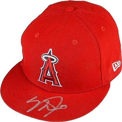 Mike Trout Los Angeles Angels Autographed New Era Cap - Fanatics ... de8c0ac2276