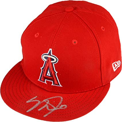 ... adjustable hat red 50% off mike trout los angeles angels autographed  new era cap fanatics authentic certified autographed ... a45f27284465