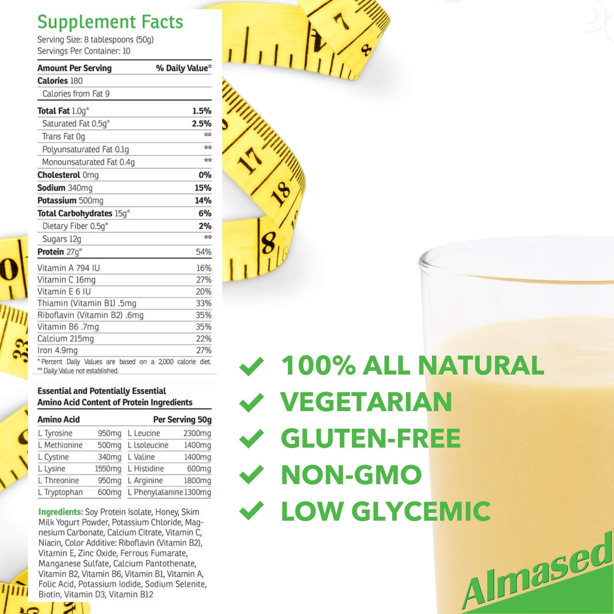 Almased Meal Replacement Shake (3 Pack) with Bonus Bamboo Spoon - 17.6 oz Powder - High Protein Weight Loss Drink, Fat Metabolism Booster - Vegetarian, Gluten Free - 30 Total Servings by Almased (Image #6)