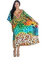 Kivaana Kaftan Kaftan Dress Caftan Dress Plus Size Dress Beach Plus Size Dress In Blue Maxi Caftans In Peacock Print