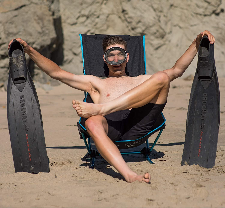 de perfil bajo compacta plegable Silla de playa Helinox ligera
