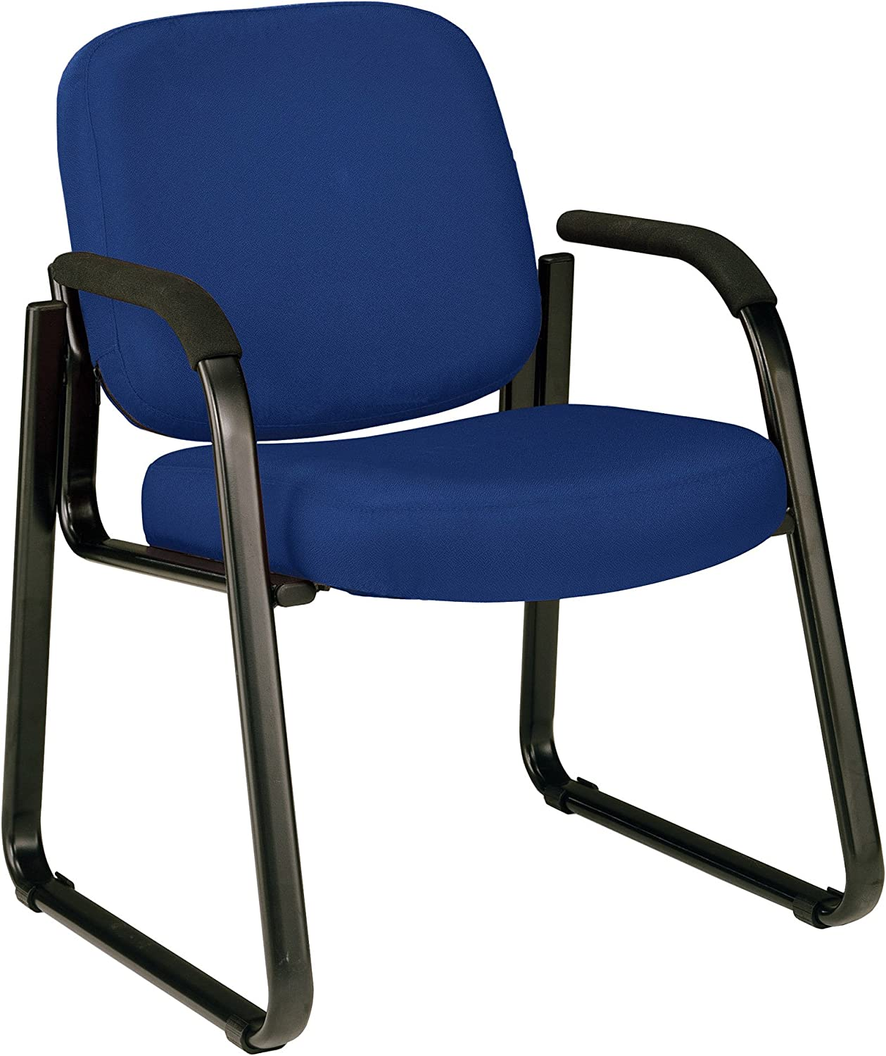 OFM Core Collection Fabric Guest and Reception Chair with Arms and Extra Thick Cushion, in Navy