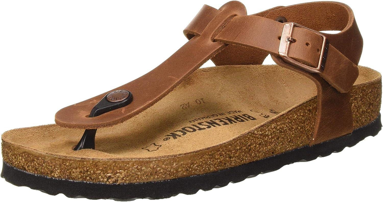Birkenstock Women's Tongs Sandal, Antique Brown, 6.5 us