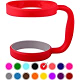 30oz Tumbler Handle (RED) by STRATA CUPS - 16 COLORS - Available For 30oz YETI Tumbler, OZARK TRAIL Tumbler, Rambler Tumbler- Black, Gray, Purple, Teal, Pink, Gray, Red & More - BPA FREE