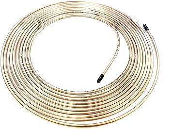 "Roll Coil of 3//16/"" OD Copper Nickel Brake Line Tubing Kit Fittings new TS 25 Ft"