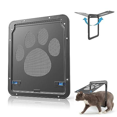 FEIXIN2018712 automática Ranura para Mascotas Tapa Solapas Perros y Gatos Tapa – Impermeable/Abschließbar –