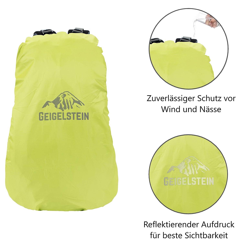 GEIGELSTEIN/® Raincover Housse de Pluie pour Sacs /à Dos de 30 /à 45 litres avec Logo r/éfl/échissant et Poche
