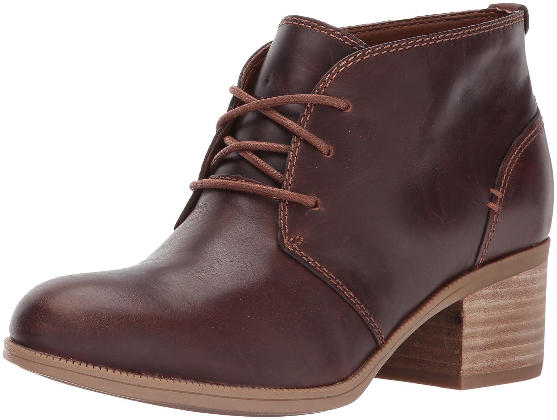 CLARKS Women's Maypearl Flora Ankle Bootie B01MT1E7YI 11 B(M) US|Dark Tan Leather