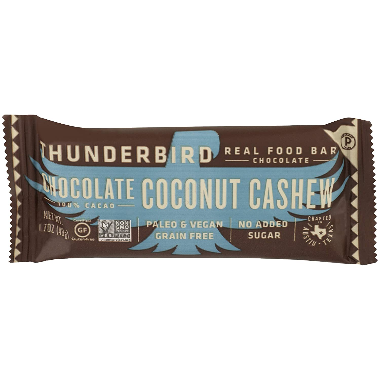 THUNDERBIRD ENERGETICA Chocolate Coconut Cashew Bar, 1.7 OZ