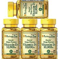 Puritans Pride Vitamin D3 10,000 IU, 100 Count (4 Pack)