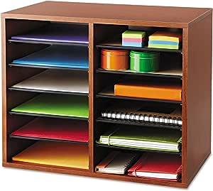 Decorative Eight Compartment Literature Sorter 19-1//2 x 12-3//8 x 10-1//4 in