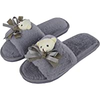 Irsoe Fur Comfortable Indoor/Outdoor Soft Bottom Slippers |Womens Flipflop |Womens Fancy Slippers |Girls Slippers flip Flop- Grey