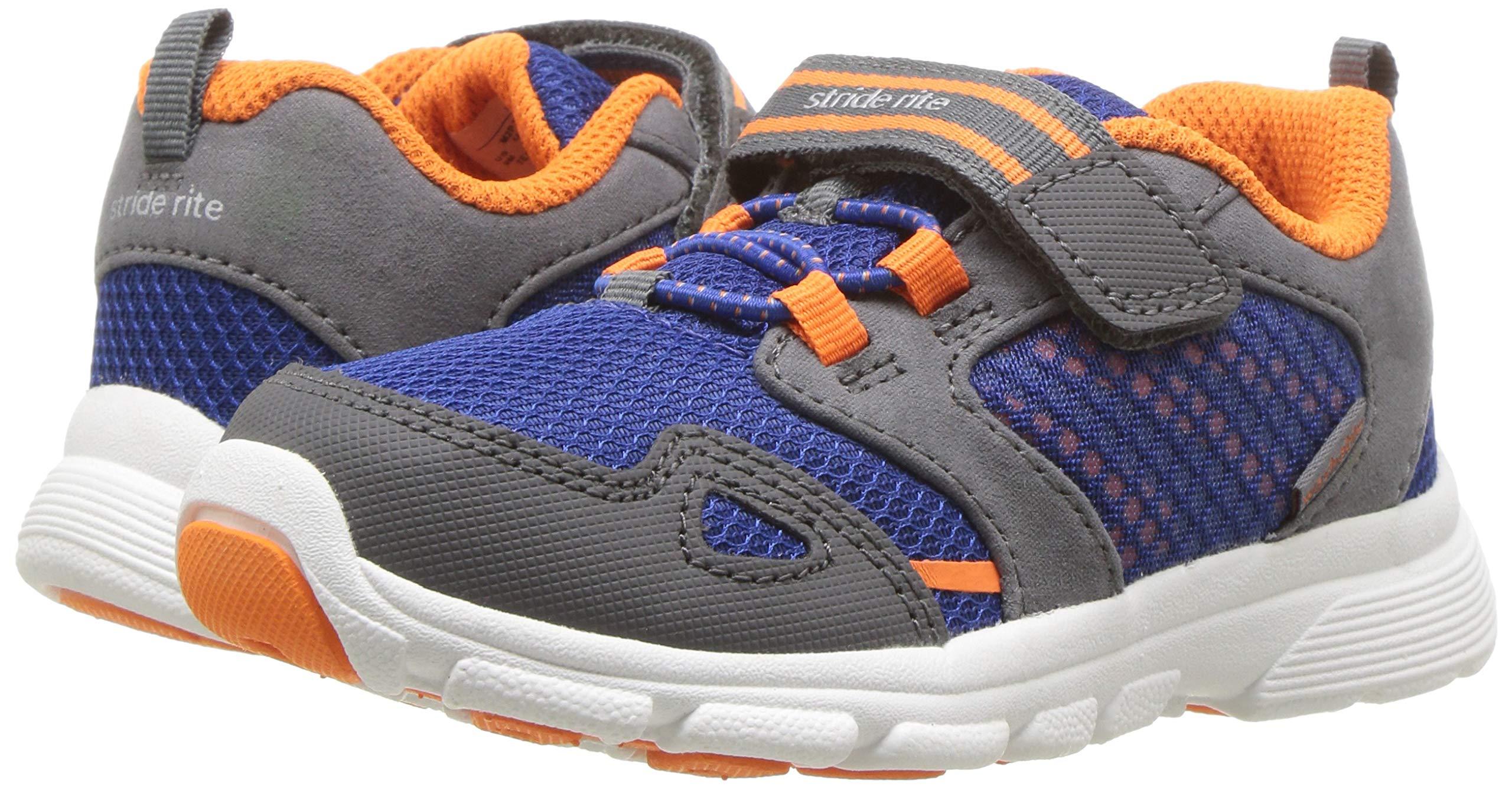 Stride Rite Boys' Made 2 Play Taylor Sneaker, Navy/Orange 7.5 M US Toddler by Stride Rite (Image #5)