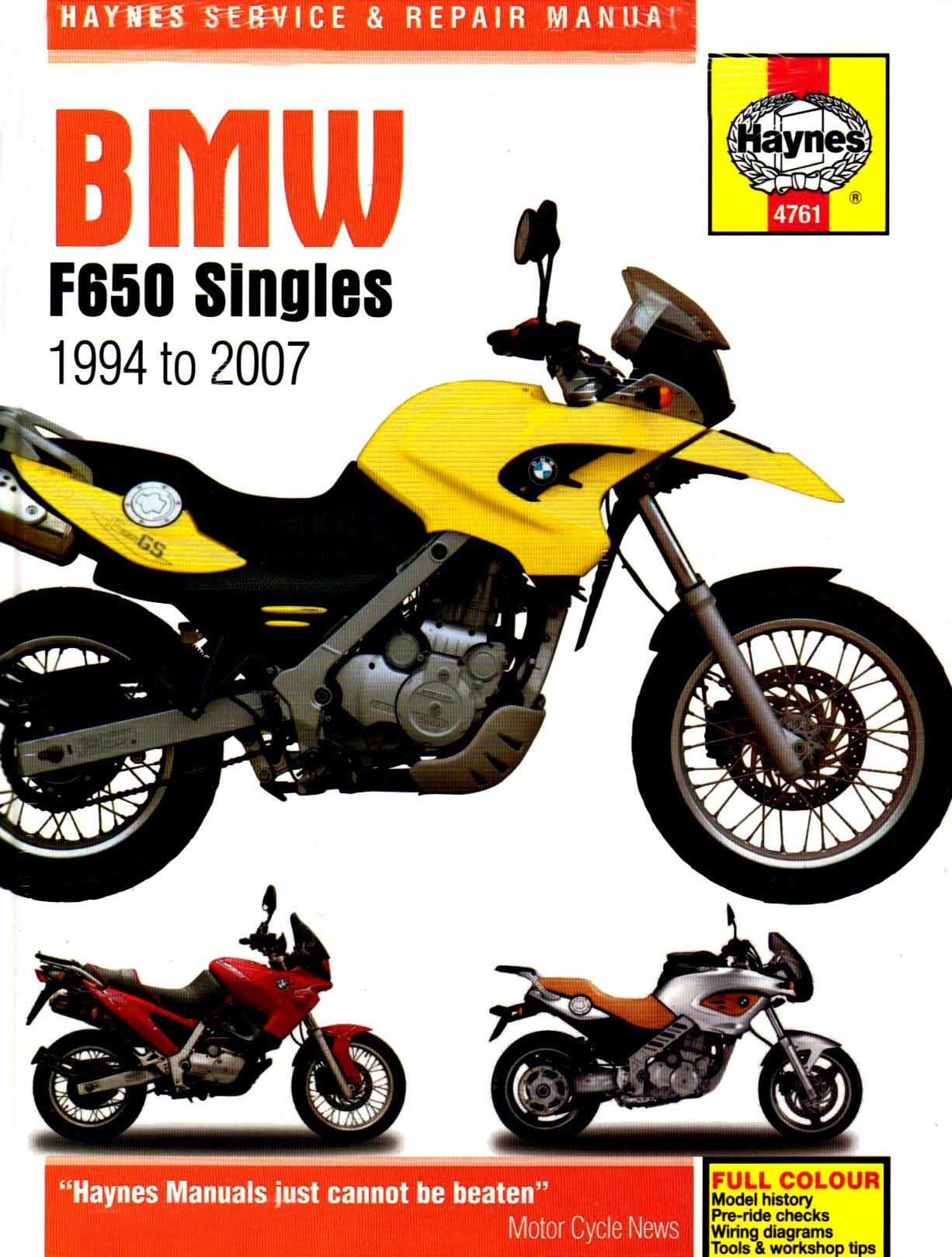 Haynes BMW F650 Singles Manual 4761: Haynes: 9781844257614: Amazon.com:  Books
