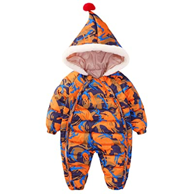 bec3c1ee8 Winter Baby Infant Thicken Down Snowsuit One Piece Outerwear ...