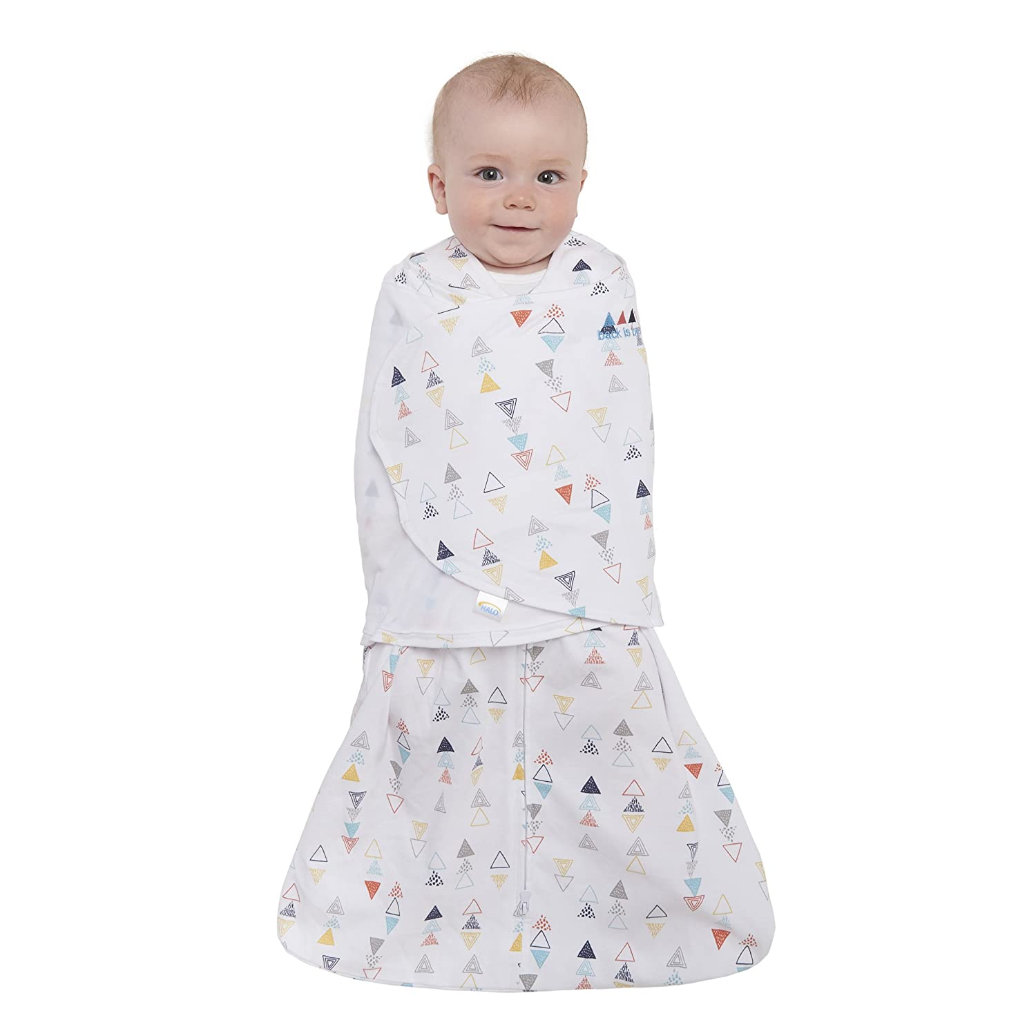 Halo Innovations Sleep Sack Cotton Swaddle, Multi Triangle, Small 12343