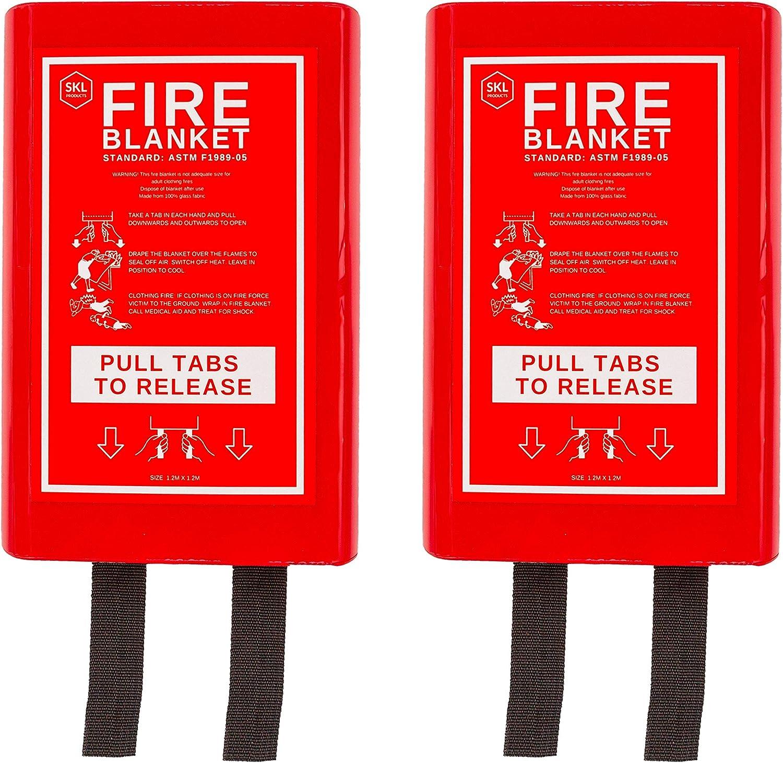 Flame Retardant Blanket Emergency Survival Safety Warehouse Fireplace car Office Cover for Kitchen Deke Home Pack Fire Blanket Fiberglass Emergency Blanket Suppression Blanket