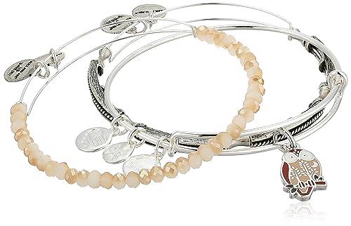 Alex and Ani Womens Owl Bracelet Set of 3