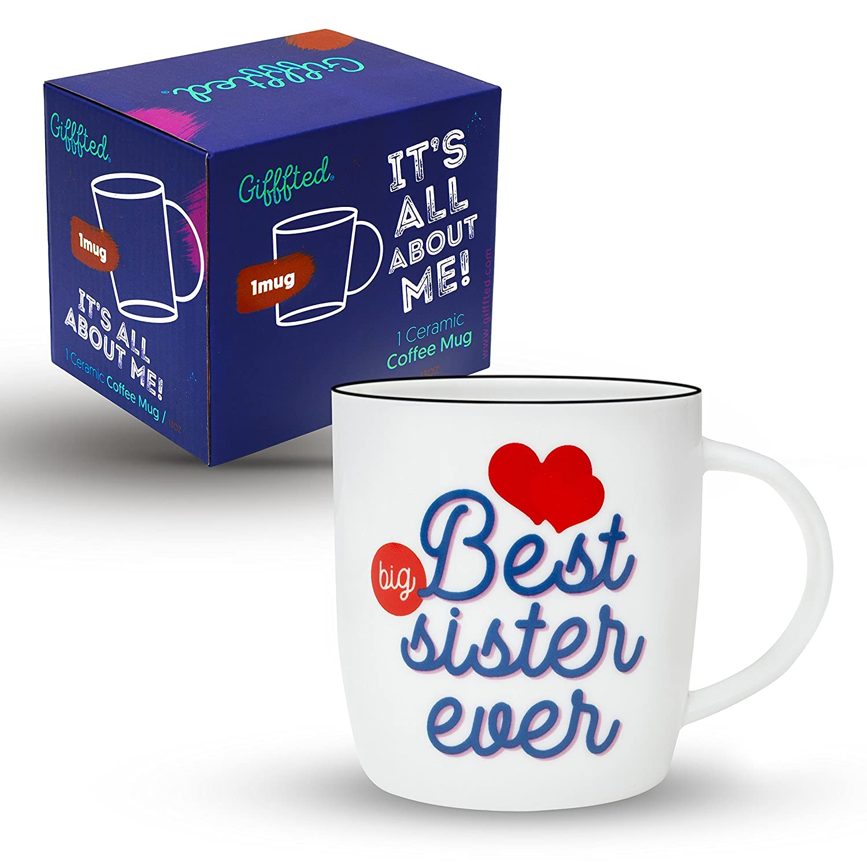 Gifffted Tasse Beste Grosse Schwester der Welt, Lustige Tasse ...