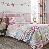 Catherine Lansfield Canterbury Patchwork Juego Funda Nórdica, 100% algodón, Multicolor, Individual, 160x 200x 1cm