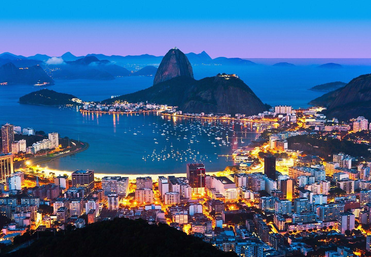 Ideal Décor DM951 Rio De Janeiro Wall Mural, Blue