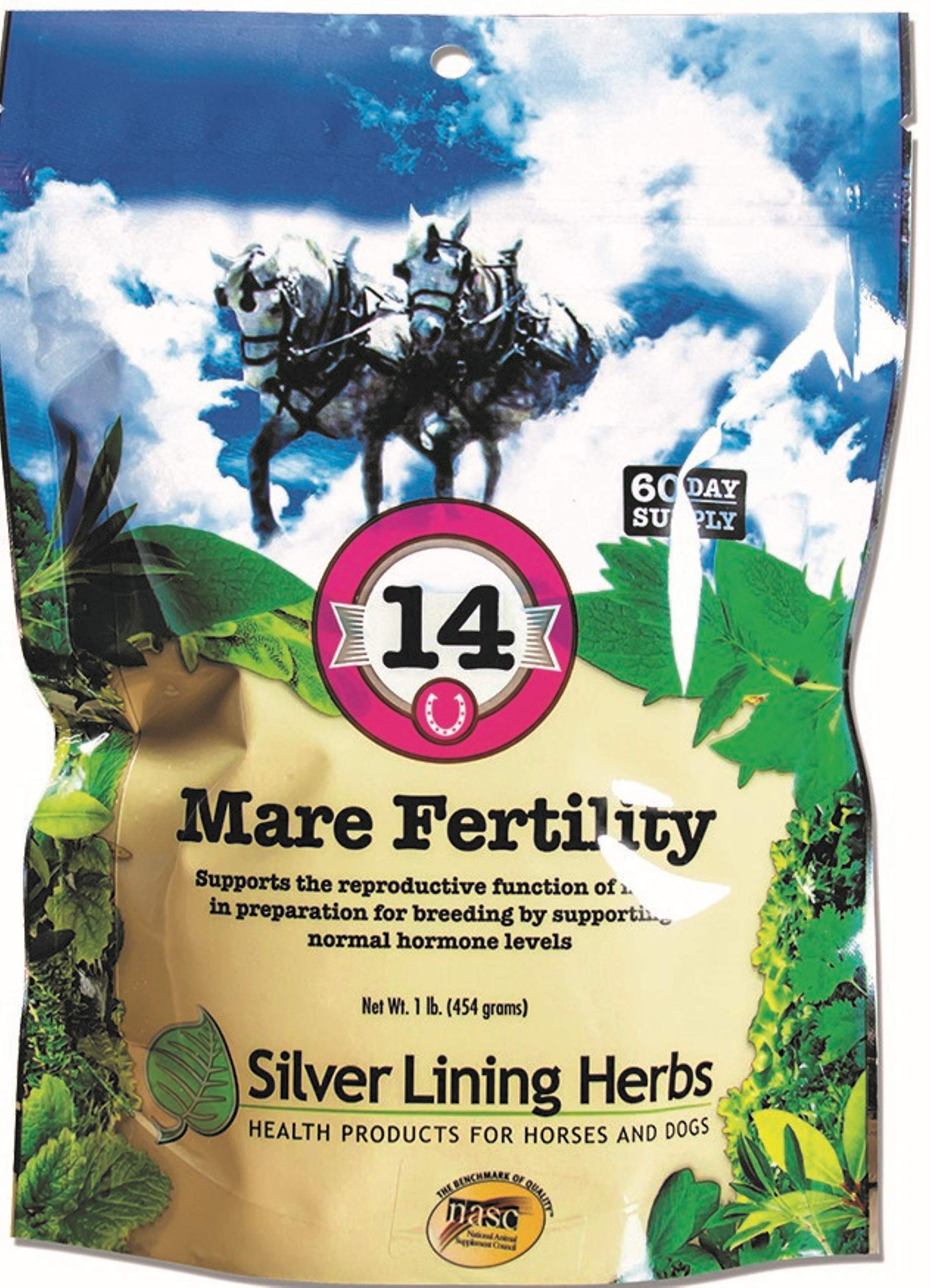 Mare Fertility   Natural Herb Blend Supports a Mare Reproductive  System In Preparation For Breeding    Supports Mare in Heat   Helps Deal With Moodiness and Hormone Imbalance  Made In The USA by Silver Lining Herbs