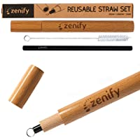 zenify Reusable Metal eco Straws case Stainless Steel