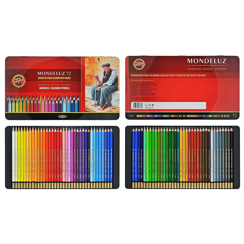 Koh I Noor 72 Mondeluz Aquarelle Colored Pencils. 3727 by Koh I Noor