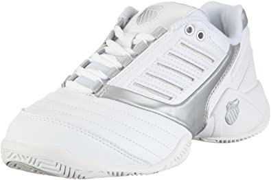 SURPASS 9160-155-M, Damen Tennisschuhe, Weiß (White/Silver), EU 39.5 (UK 6) K-Swiss