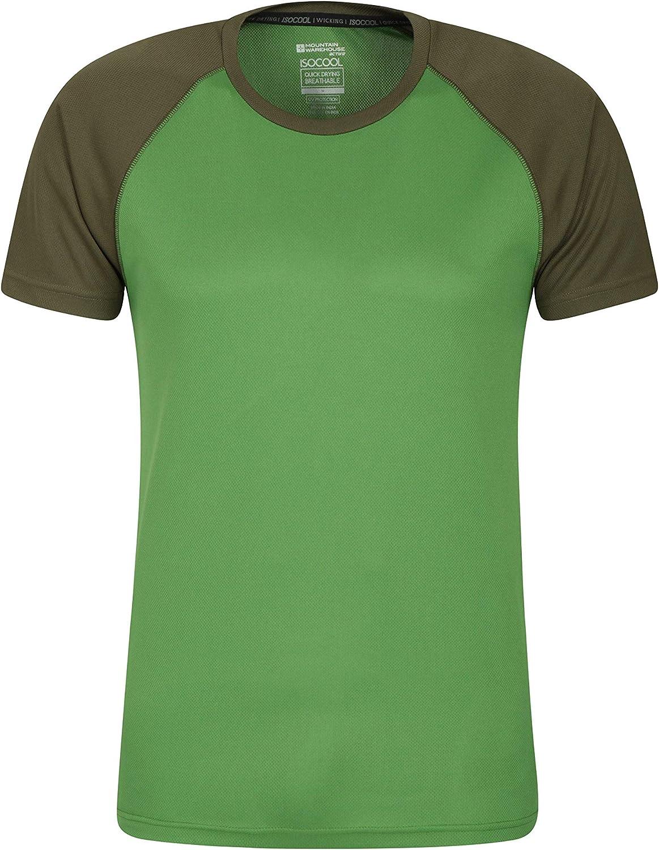 Mountain Warehouse Camiseta para Hombres Endurance - Transpirable, de protección Solar UPF30, Camiseta Ligera y cómoda, Cuidado fácil