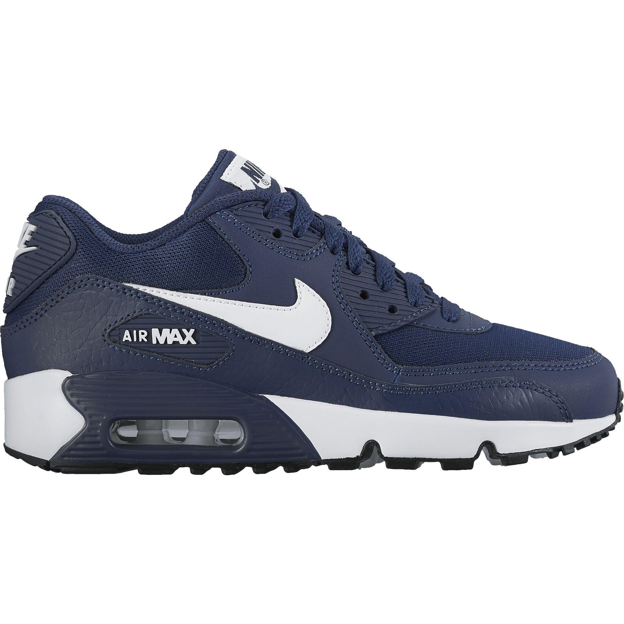 New Nike Boy's Air Max 90 Mesh Sneaker Navy/White 5 by NIKE