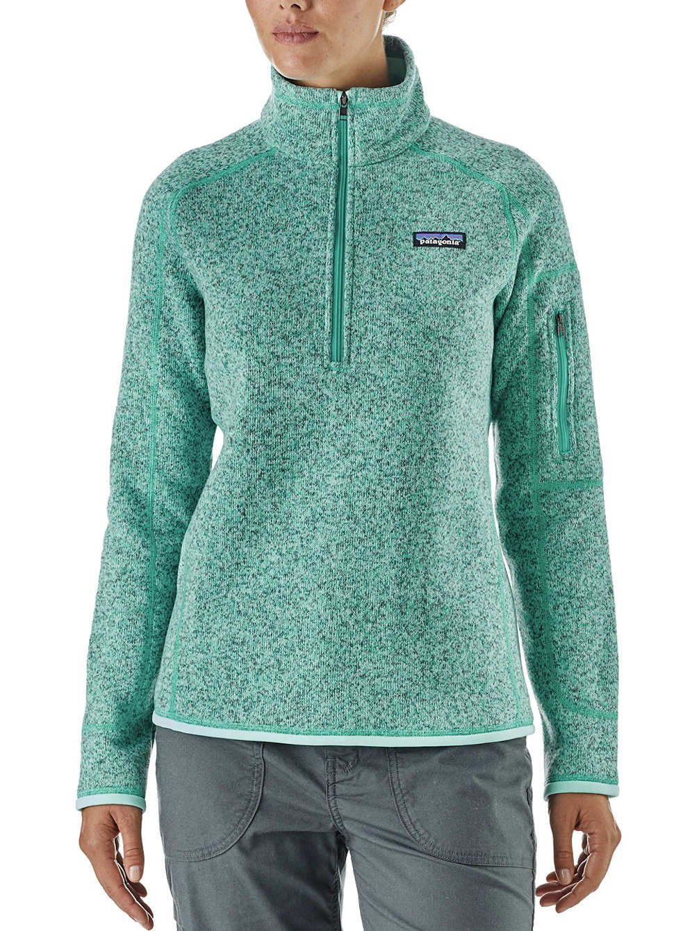 Patagonia Womens Better Sweater 1/4 Zip 25617 (Small, Bend Blue)