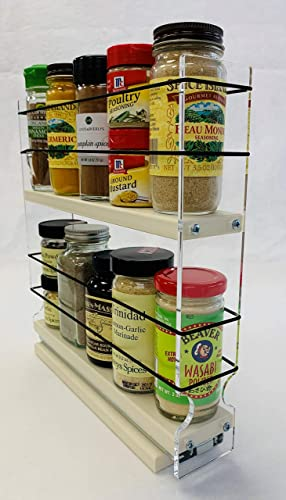 Vertical Spice – 2x2x11 DC – Spice Rack Narrow Space – 10 Capacity – Drawer Access