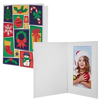 5x7 christmas cheer photo folder 100 pack