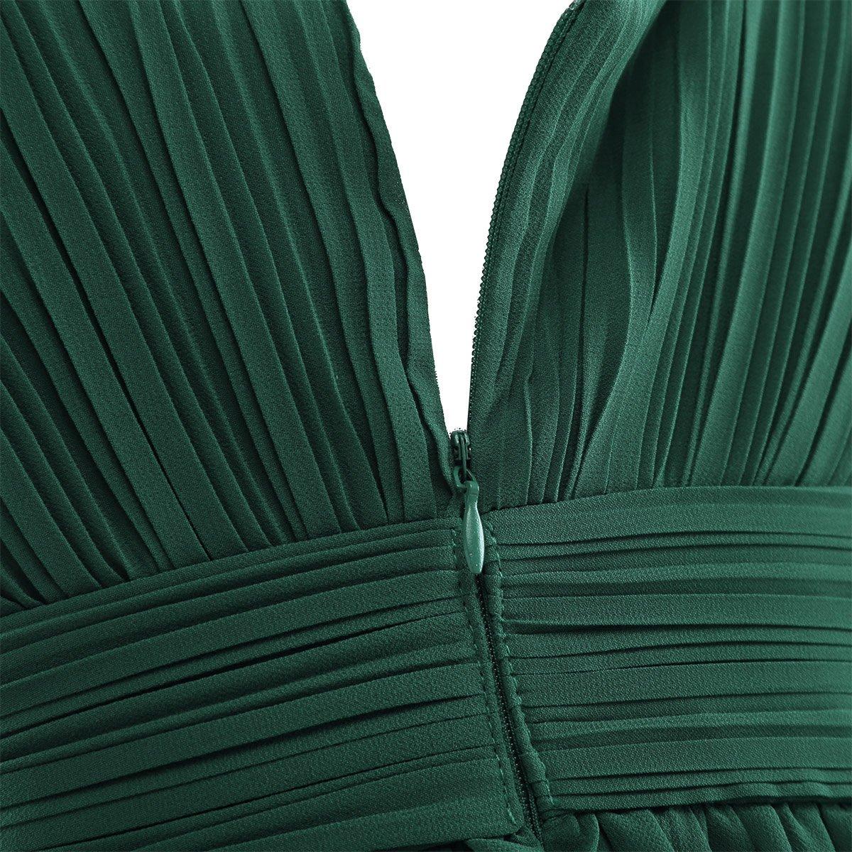 MSemis Enfant Robe De Soir/ée Cocktail Fille Mousseline de Soie Costume De C/ér/émonie Mariage Fille Robe Princesse sans Manche Taille Haute 4-14 Ans