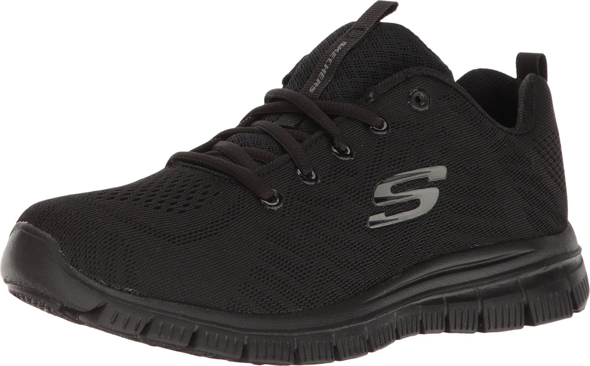 Skechers Sport Graceful Get Connected Women's Sneaker 8 B(M) US Black-Black